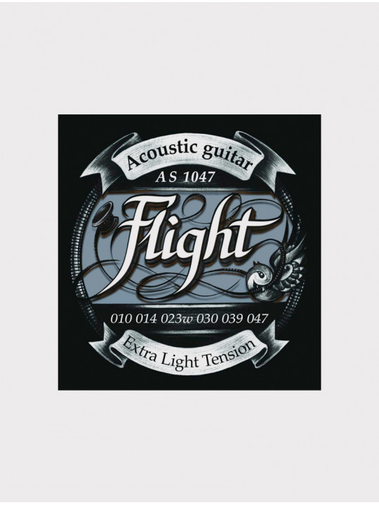 Струны для акустической гитары Flight AS1047 толщина 10-47