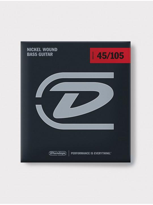 Струны для бас-гитары 5-струнной никелированные Dunlop Medium DBN45125, 45-125