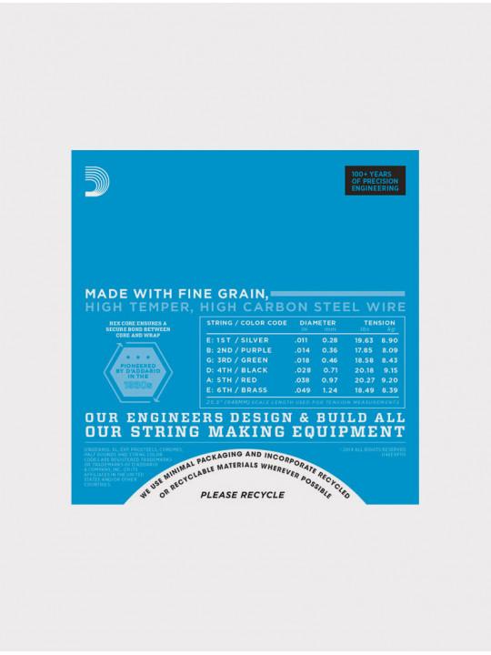 Струны для электрогитары D'Addario EXP115 толщина 11- 49