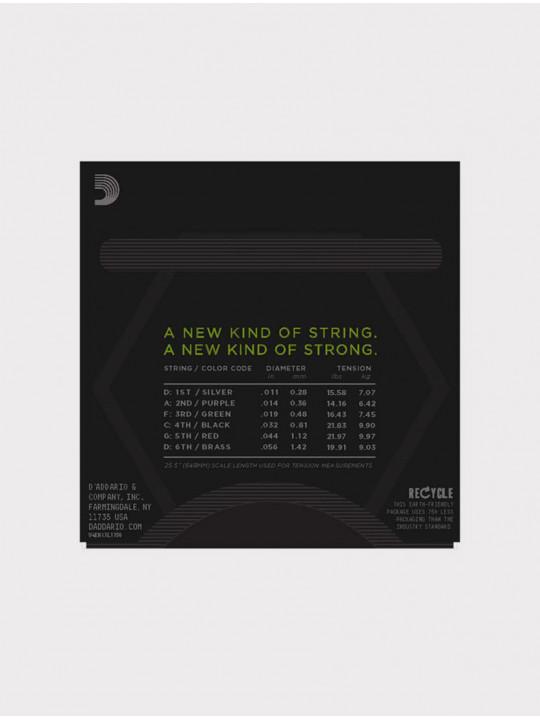 Струны для электрогитары D'Addario NYXL1156 толщина 11-56
