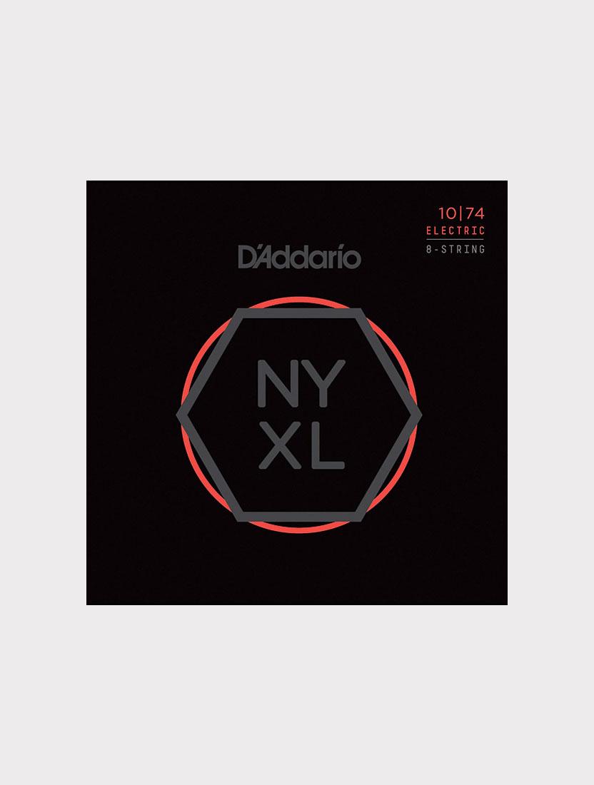 Струны для 8-струнной электрогитары D'Addario NYXL1074 толщина 10-74