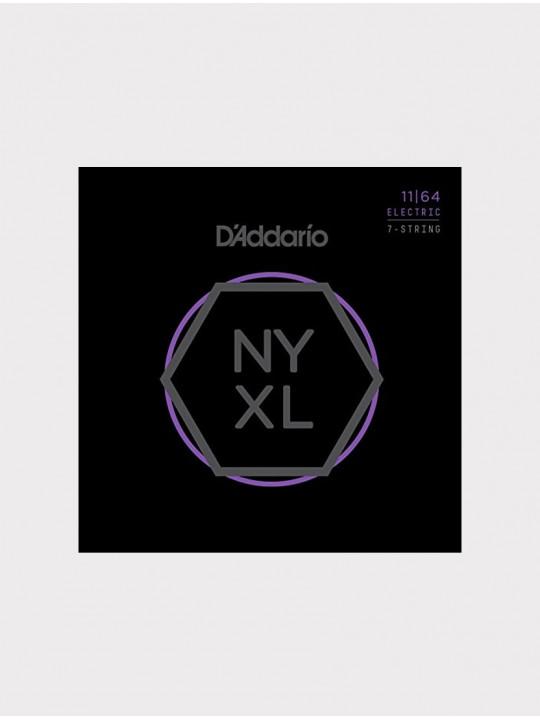 Струны для 7-струнной электрогитары D'Addario NYXL1164 толщина 11-64