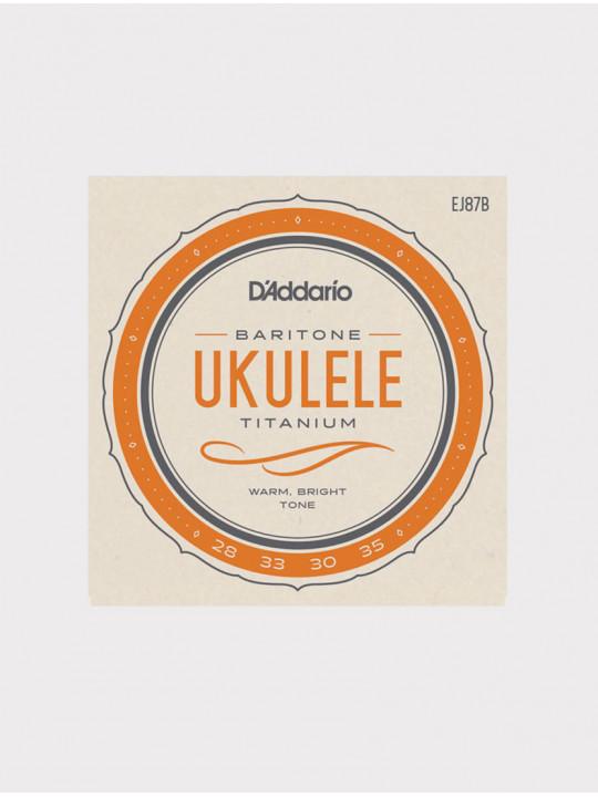 Струны для укулеле баритон D'Addario EJ87B Titanium Ukulele