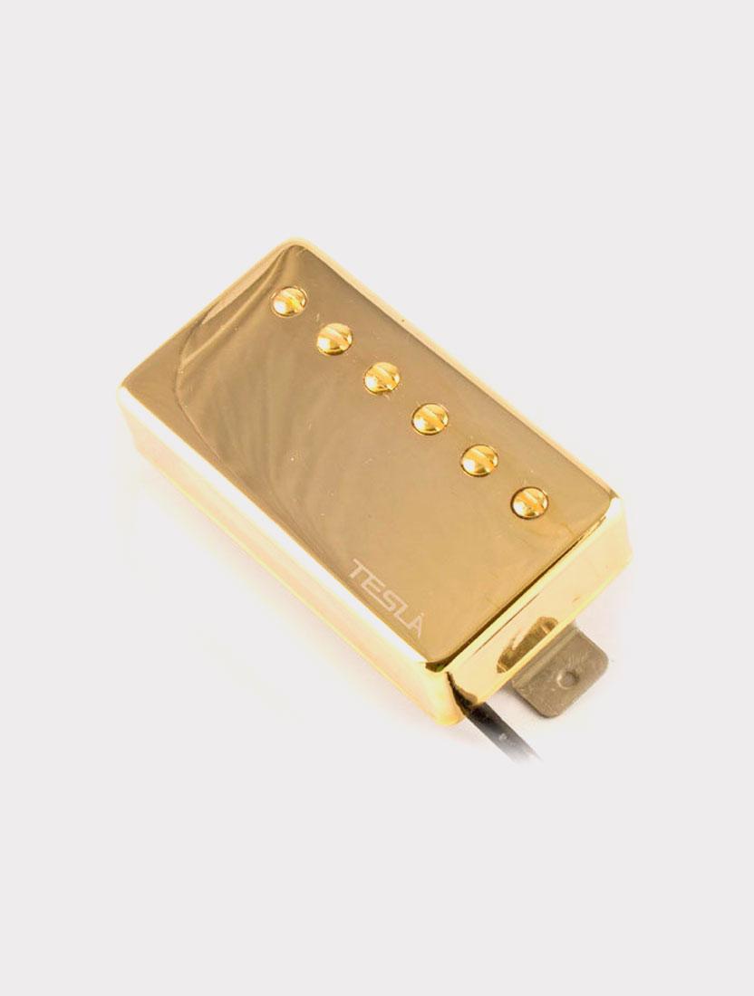 Звукосниматель Tesla Plasma-X1 Bridge Gd хамбакер для шестиструнной электрогитары