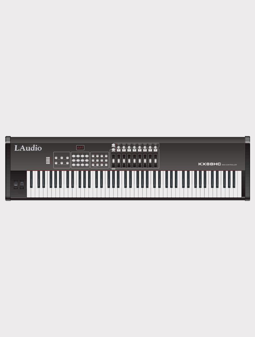MIDI-контроллер LAudio KX88HC, черный, 88 клавиш