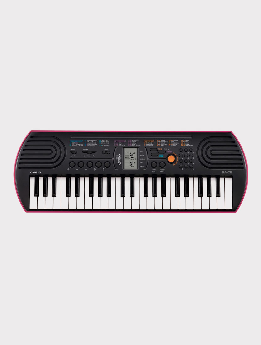 Синтезатор Casio SA-78 розовый, 44 клавиши