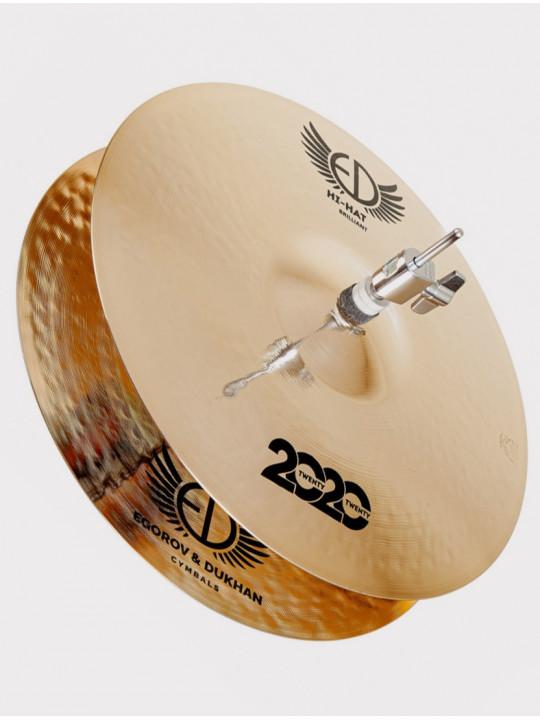 """Тарелки ED Cymbals 2020 (Twenty Twenty) Hi-hat 15"""" ED2020HH15BR"""