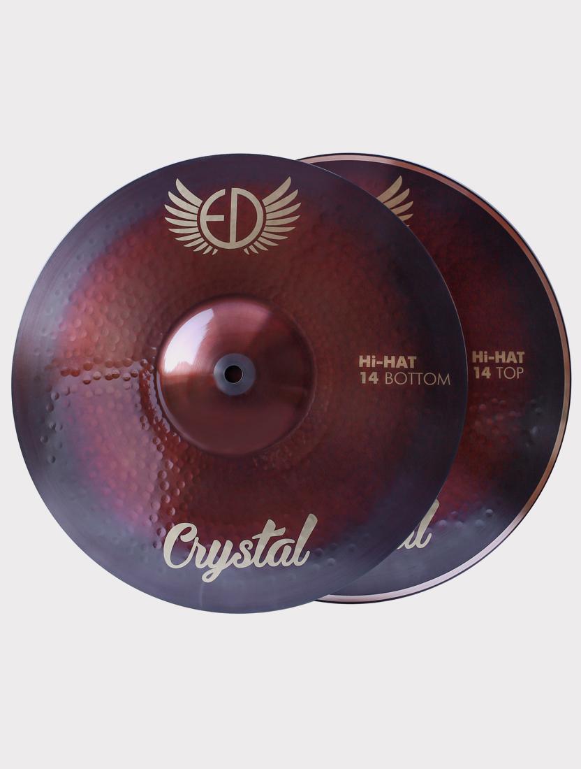 """Тарелки ED Cymbals Crystal Hi-hat 14"""" EDCRHH14"""
