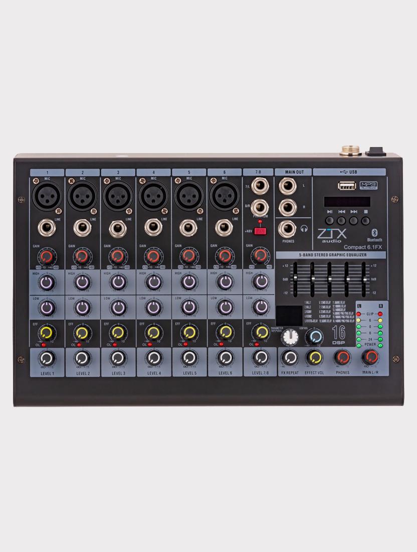 Микшерный пульт ZTX Audio Compact 6.1Fx