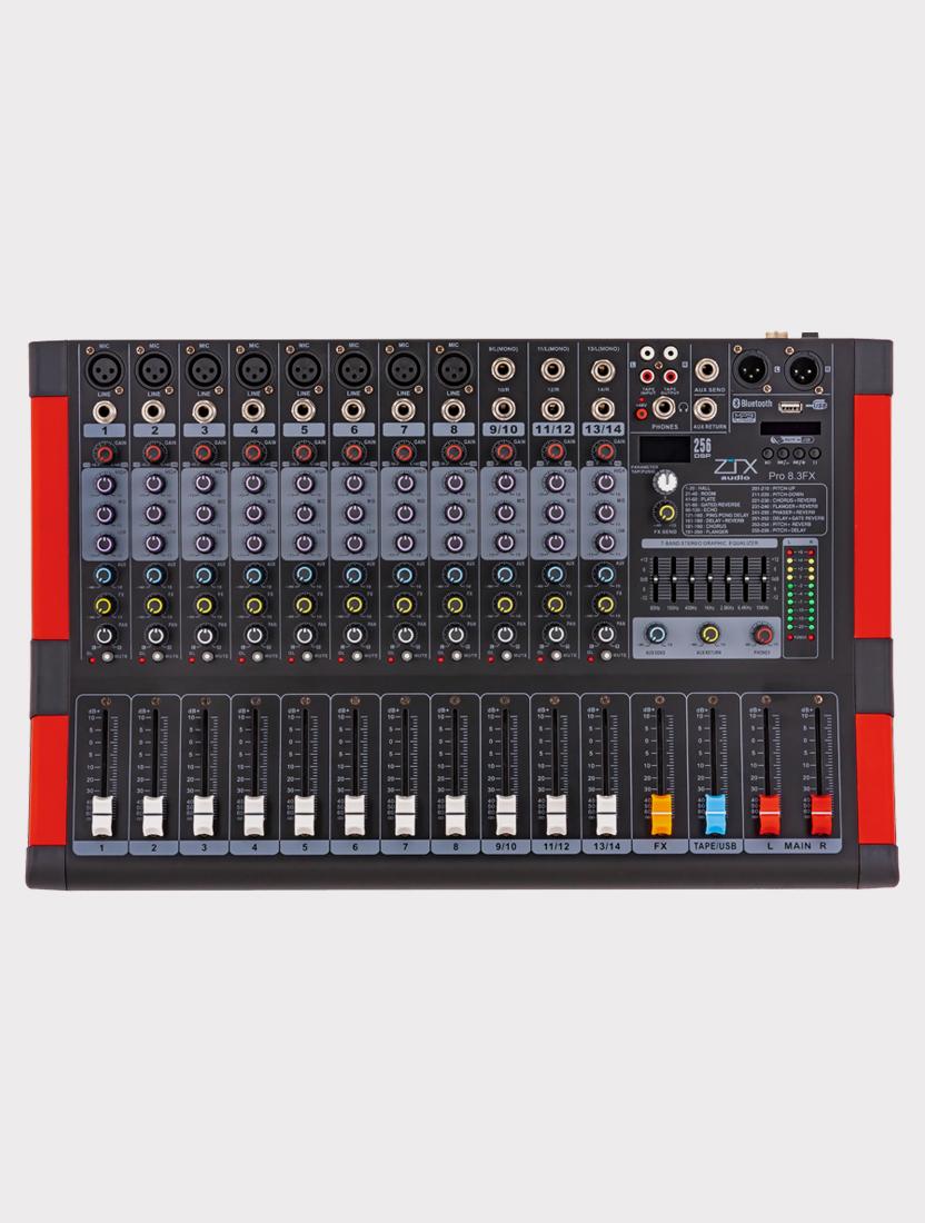 Микшерный пульт ZTX Audio Pro 8.3Fx