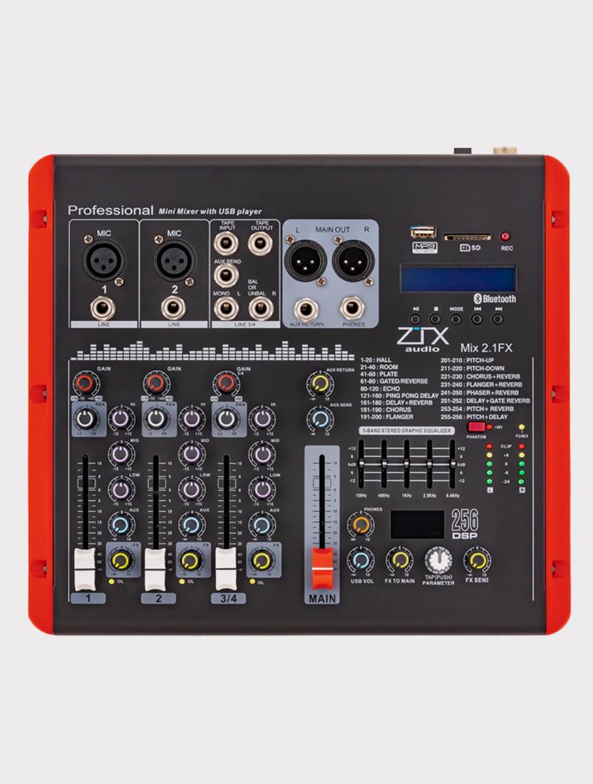 Микшерный пульт ZTX Audio Mix 2.1Fx