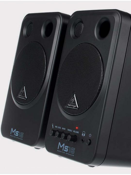 Студийныe мониторы Behringer MS16, 16 Вт черные (пара)