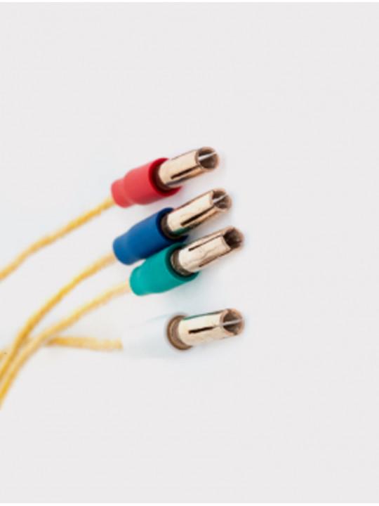 Провода для хедшелла из позолоченной меди с серебряными коннекторами HSW 6N OOC