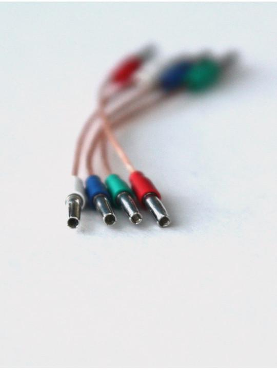 Провода для хедшелла из бескислородной меди с родированными серебряными коннекторами HSW 7N OOC